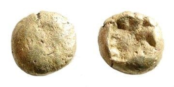 Ancient Coins - Ionia or Caria, Uncertain mint. 6th century BC. Electrum 1/12th Stater (1.16 gm, 8mm). SNG Helsinki I, 336