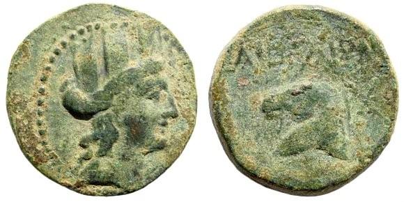 Ancient Coins - Cilicia, Aigeai. Circa 164 BC – Imperial Times. AE 20mm (6.97 gm, 12h). SNG Levante 1636