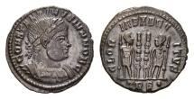 Ancient Coins - Constantine II, as Caesar, 317-337 AD. AE Follis (2.25 gm, 18mm). Treveri (Trier) mint. Struck 330-335 AD. LRBC 56