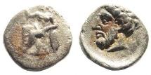 Ancient Coins - Kilikia, Uncertain. 4th century BC. AR Obol (0.70 gm, 9mm). SNG Levante 236. Rare