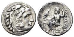 Ancient Coins - Macedonian Kingdom. Antigonos I Monophthalmos. Circa 310-301 BC. AR Drachm (4.13 gm, 17.5mm). Abydos mint. Price 1530