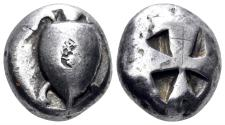 Ancient Coins - Islands off Attica. Aegina. 525-480 BC. AR Stater (12.15 gm, 19mm). SNG Copenhagen 501