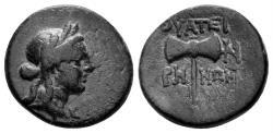 Ancient Coins - Lydia, Thyateira. 2nd century BC. AE 15mm (3.15 gm). SNG von Aulock 3200-1