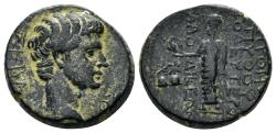 Ancient Coins - Phrygia, Laodikeia ad Lycum. Tiberius, 14-37 AD. AE 17mm (5.60 gm). Pythes Python magistrate. RPC I 2908