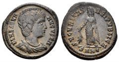 Ancient Coins - Helena. 324-328/30 AD. AE follis (4.43, 19mm). Heraclea mint. Struck 327-329 AD.RIC VII 79