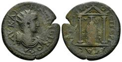 Ancient Coins - Pamphylia, Perge. Maximinus I. 235-238 AD. AE 25mm (7.96 gm). SNG BN 484 var. (legends)