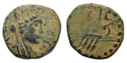 Ancient Coins - Judaea, Ascalon. Time of Trajan, 98-117 AD. AE 15mm (3.32 gm). Dated CY 213 (109/10 AD). Yashin 146