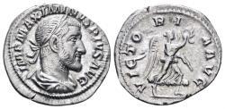 Ancient Coins - Maximinus I. 235-238 AD. AR Denarius (2.55 gm, 19.5mm). Rome mint. Struck 236 AD. RIC IV 16