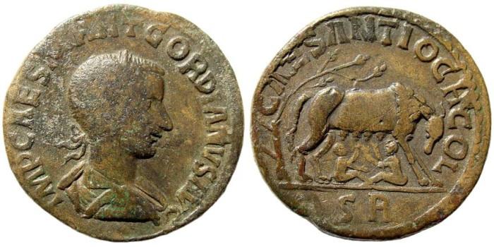Ancient Coins - Pisidia, Antioch. Gordian III, 238-244 AD. AE 33mm (27.50 gm). SNG France 1198 (same obverse die); SNG PfPs 85 (same obverse die)
