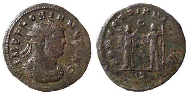 Ancient Coins - Florian, 276 AD. AE Antoninianus (4.26 gm) Kyzikos mint. RIC V/1, 360, 116. C. 15