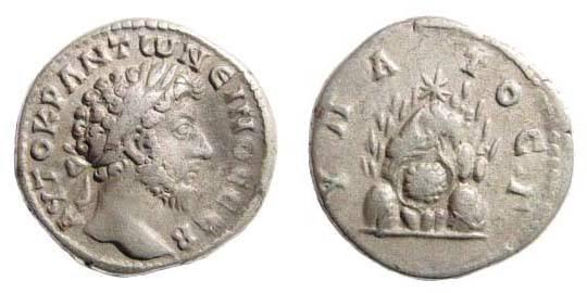 Ancient Coins - Cappadocia, Caesarea, Marcus Aurelius, Didrachm