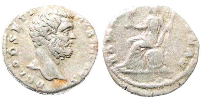 Ancient Coins - Clodius Albinus, as Caesar, 193-195 AD. AR Denarius (3.56 gm, 18mm). BMCRE 45; RSC 61a
