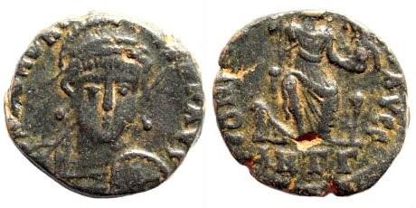 Ancient Coins - Honorius. 393-423 AD. AE4 (2.51 gm, 14.5mm). Antioch, 401-403 AD. RIC X 99