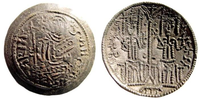 Ancient Coins - Hungarian Kingdom. Bela III, 1172-1196 AD. AE Follaro (2.8 gm, 27mm). H.72