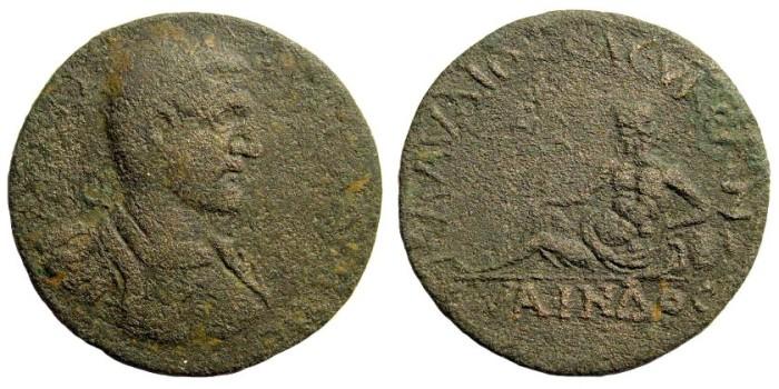 Ancient Coins - Pisidia, Seleukeia Sidera. Claudius II. 268-270 AD. AE 30mm (15.65 gm). Hans von Aulock, Pisidiens II, 2104. Very rare