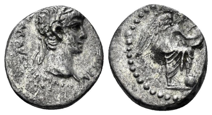Ancient Coins - Cappadocia, Caesarea-Eusebia. Nero. 54-68 AD. AR Hemidrachm (1.74 gm, 13mm). Struck circa 56-58 AD. Sydenham 83