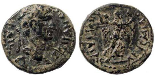 Ancient Coins - Pamphylia, Perge, Trajan, 98-117 AD, AE 18.8 (4.28 gm.). SNG France 3, 393