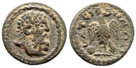 Ancient Coins - Lydia, Thyateira. 3rd century AD. AE 14mm (1.38 gm). Lindgren/ Kovacs 789