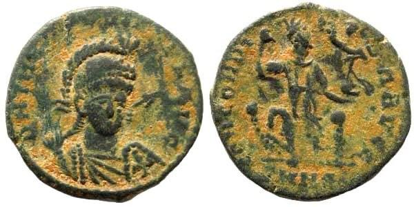 Ancient Coins - Theodosius II, 402-450 AD. AE 3/4 (2.20 gm, 18mm). Nicomedia mint. LRBC 2455