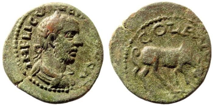Ancient Coins - Troas, Alexandria. Valerian I, 253-260 AD. AE 23mm (5.05 gm). SNG Copenhagen 191