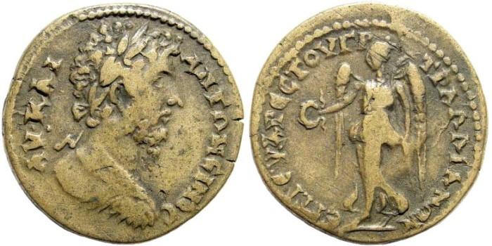 Ancient Coins - Lydia, Tralleis. Marcus Aurelius, 161-180 AD. AE 31mm (19.19 gm). BMC 149. Rare