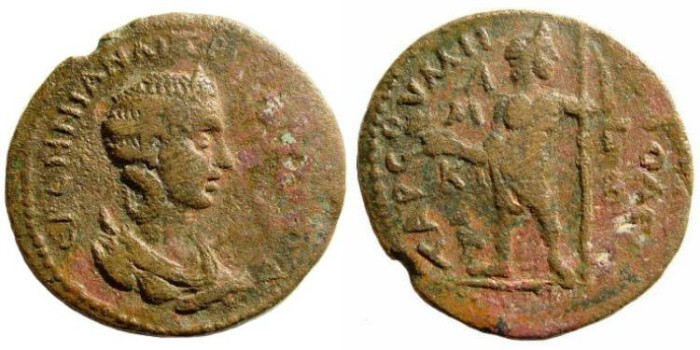 Ancient Coins - Cilicia, Tarsus. Herennia Etruscilla, wife of Trajan Decius. Augusta, 249-251 AD. AE 30mm (15.91 gm). SNG Levante 1167 (same dies); Lindgren/ Kovacs, 1645