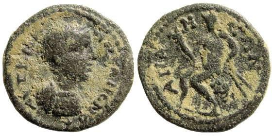 Ancient Coins - Phrygia, Apameia. Elagabal. 218-222 AD. AE 20mm (3.94 gm). SNG von Aulock 3505