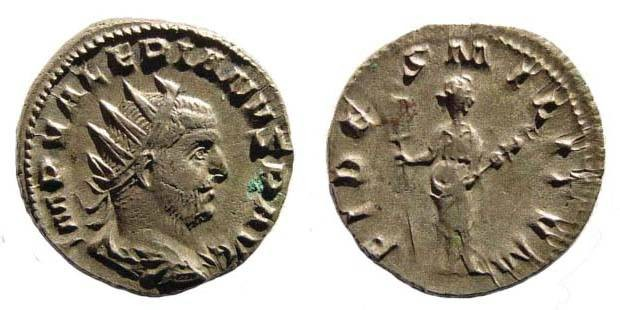 Ancient Coins - Valerian I, Antoninianus, Fides