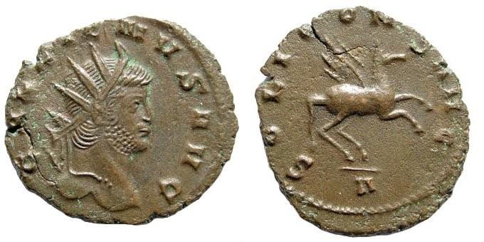 Ancient Coins - Gallienus. 253-268 AD. Antoninianus (2.90 gm, 21mm). Rome mint, 267-268 AD. RIC V 283; MIR 36, 712b