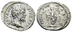 Ancient Coins - Septimius Severus. 193-211 AD. AR Denarius (3.74 gm, 20mm). Rome mint. Struck 202-210 AD. RIC IV 265