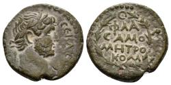 Ancient Coins - Syria, Commagene, Samosata. Hadrian, 117-138 AD. AE 17mm (4.54 gm). BMC 20; Butcher, 8