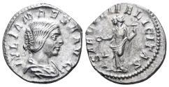 Ancient Coins - Julia Maesa. Augusta, 218-224/5 AD. AR Denarius (3.05 gm, 18mm). Rome mint. Struck 220-222 AD. RIC IV 271