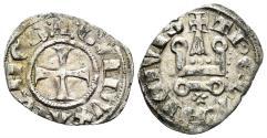 World Coins - Crusaders, Duchy of Athens. Gui II de La Roche. 1287-1308. BI Denier (0.92 gm, 20mm). Thebes mint. Metcalf, Crusades 1077