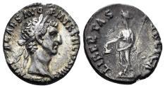 Ancient Coins - Nerva. 96-98 AD. AR Denarius (2.79 gm, 17mm). Rome mint. Struck 97 AD. RIC 19