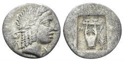 Ancient Coins - Lykian League, Masikytes. Period IV. Circa 48-42 BC. AR Hemidrachm (1.11 gm, 14mm). RPC I 3302