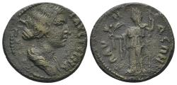 Ancient Coins - Lydia, Blaundus. Faustina Junior. Augusta, 147-175 AD. AE 20mm (4.91 gm). BMC 78