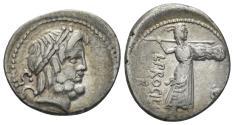Ancient Coins - L. Procilius. 80 BC. AR Denarius (3.76 gm, 19mm). Rome mint. Crawford 379/1