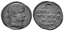 Ancient Coins - Constantine I the Great. 307-337 AD. AE Follis (2.12 gm, 18mm). Antioch mint. Struck 324-325 AD. RIC VII 57