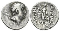 Ancient Coins - Cappadocian Kingdom. Ariobarzanes I Philoromaios, 96-63 BC. AR Drachm (3.91 gm, 18mm). Dated RY 24 (63/2 BC). Simonetta 33