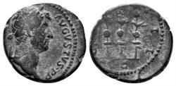 Ancient Coins - Hadrian. 117-138 AD. AE Quadrans (2.73 gm, 16mm). Rome mint. Struck 134-138 AD. RIC II 977