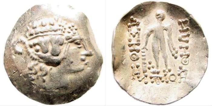Ancient Coins - Celtic, Danube Region. Imitating Thasos. Circa 2nd-1st centuries BC. AR Tetradrachm (15.67 gm, 35mm). Göbl, OTA Class III