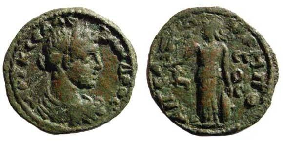 Ancient Coins - Cilicia, Aigeai, year 277 = 230/31, Alexander Severus