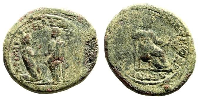 Ancient Coins - Lydia, Sardeis. Tiberius, 14 - 37 AD. AE 21mm (4.08 gm). RPC I, 2991