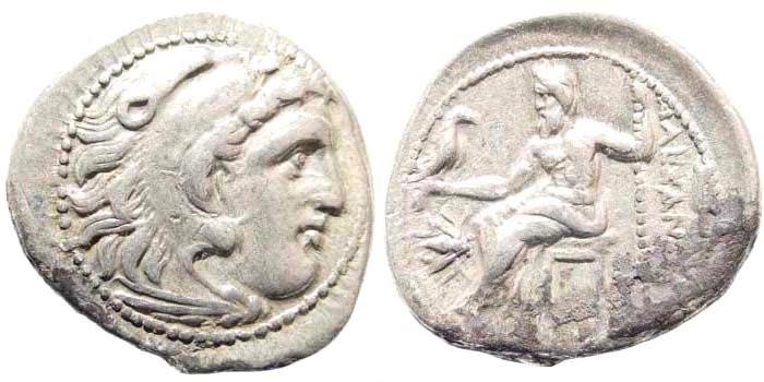 Ancient Coins - Macedonian Kingdom, Alexander III, 336-323 BC. AR Drachm (4.15 gm, 19mm). Magnesia ad Maeandrum mint. Price 1936