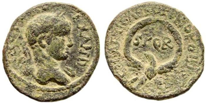 Ancient Coins - Samaria, Caesarea Maritima. Alexander Severus, 222-235 AD. AE 24mm (9.37 gm). Cf. SNG ANS 811-4