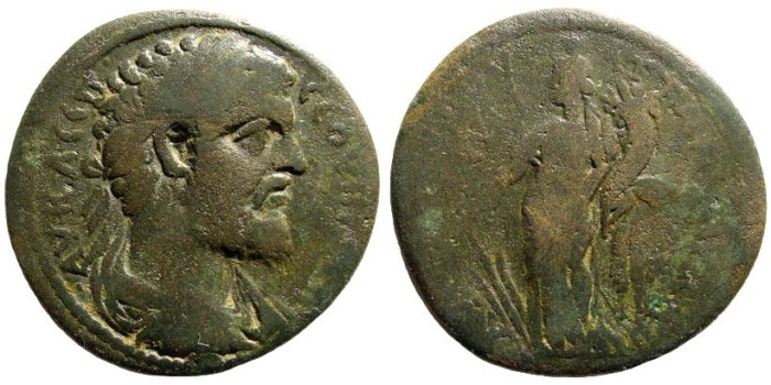 Ancient Coins - Lydia, Septimius Severus. 193-211 AD. AE 36mm (15.18 gm). Apparently unpublished
