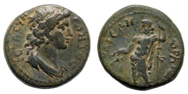 Ancient Coins - Lydia, Gordos-Iulia. Time of Commodus, 178-192 AD. AE 17mm (3.66 gm). BMC 9