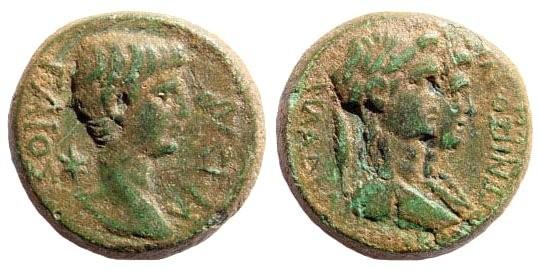Ancient Coins - Lydia, Philadelphia (Neocasarea). Gaius Caligula. 37-41 AD. AE 18mm (4.99 gm). L[...], philopatris. RPC I, 3024; SNG Copenhagen 369. Rare