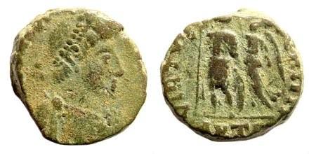 Ancient Coins - Arcadius. 383-408 AD. AE3 (3.33 gm, 13mm). Antiochia mint. 395-401 AD. RIC X, Antiochia, 70