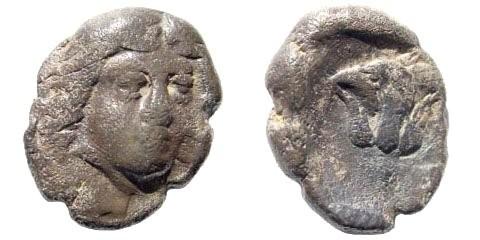 Ancient Coins - Karia, Islands off, Rhodes. Circa 404-390 BC. AR Hemidrachm (1.80 gm, 13mm). SNG Helsinki II, 372
